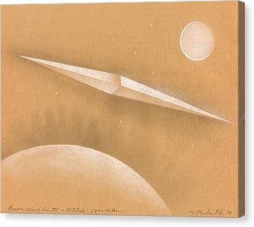 Procon Above Earth Canvas Print by Albert Notarbartolo