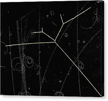 Proton Tracks Canvas Print by Lawrence Berkeley National Laboratory