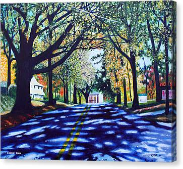 Providence Road Canvas Print by Jerry Kirk