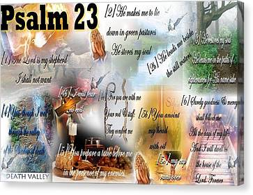 Psalm 23 Canvas Print by Barbara Judkins-Stevens