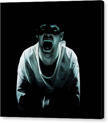 Psychiatric Patient Canvas Print by Kevin Curtis