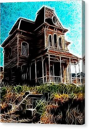 Psycho House Canvas Print by Paul Van Scott