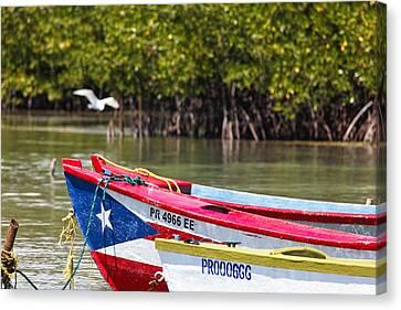 Puerto Rican Fishing Boats Canvas Print by George Oze