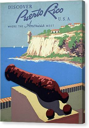 Puerto Rico. Poster Promoting Puerto Canvas Print by Everett