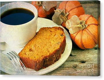 Pumpkin Bread And Coffee Canvas Print by Darren Fisher