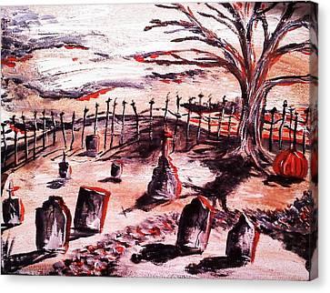 Pumpkin19 Canvas Print by Paula Shaughnessy