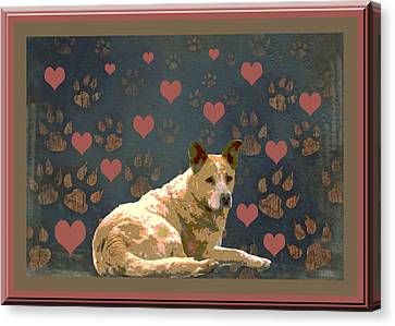 Puppy Love Canvas Print by One Rude Dawg Orcutt