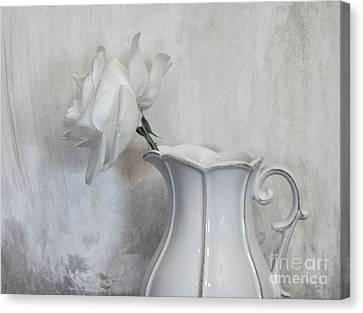 Pure White Canvas Print by Marsha Heiken