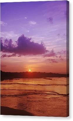 Purple And Orange Sunset Canvas Print by Vince Cavataio - Printscapes