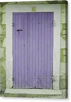 Purple Door Number 46 Canvas Print by Georgia Fowler