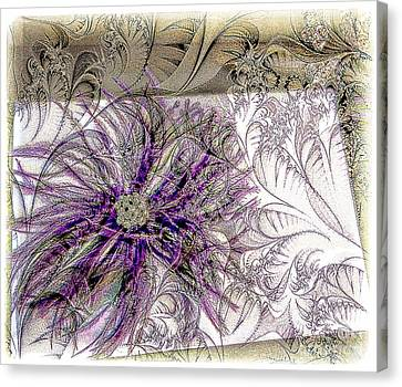 Purple Plume Canvas Print by Michelle Frizzell-Thompson