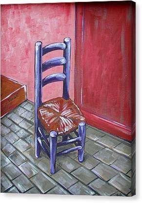 Purple Vincent Canvas Print by JW DeBrock