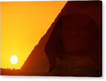 Pyramid Of Pharaoh Khafre, Sunset View Canvas Print by Kenneth Garrett