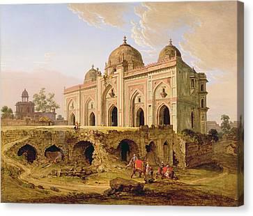 Qal' A-l-kuhna Masjid - Purana Qila Canvas Print by Robert Smith