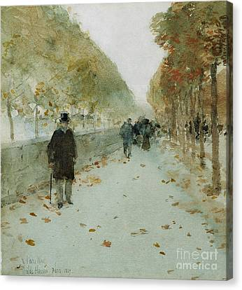 Quai Du Louvre Canvas Print by Childe Hassam