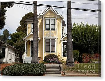 Quaint House Architecture - Benicia California - 5d18591 Canvas Print by Wingsdomain Art and Photography