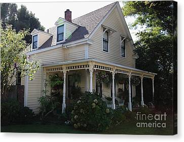 Quaint House Architecture - Benicia California - 5d18793 Canvas Print by Wingsdomain Art and Photography