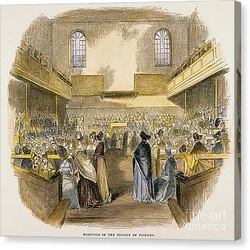 Quaker Meeting, 1843 Canvas Print by Granger