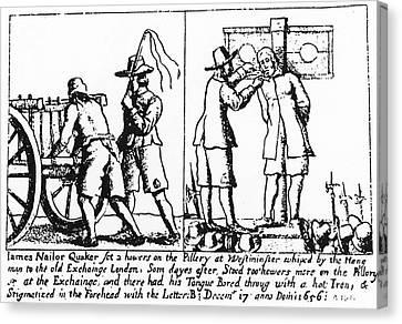 Quaker Persecution Canvas Print by Granger