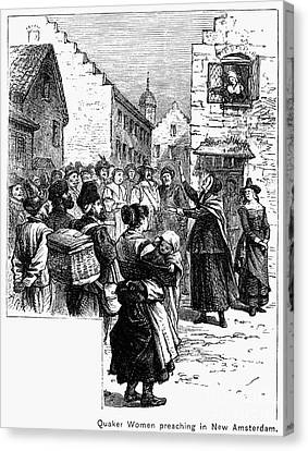Quaker Preaching, 1657 Canvas Print by Granger