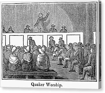 Quaker Worship, 1842 Canvas Print by Granger