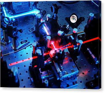 Quantum Cryptography Equipment Canvas Print by Volker Steger