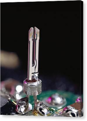 Quartz Crystal Oscillator Canvas Print by Sheila Terry