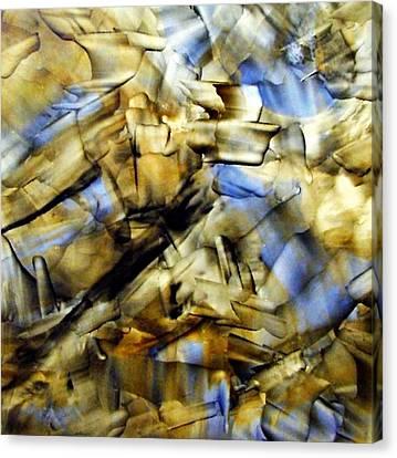 Quasi Scape Blue Canvas Print by Turgay Denizel
