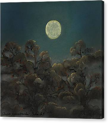 Quiet Night Canvas Print by Anna Folkartanna Maciejewska-Dyba