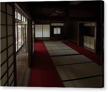 Quietude Of Zen Meditation Room - Kyoto Japan Canvas Print by Daniel Hagerman
