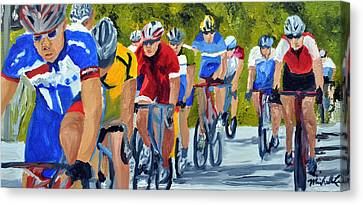 Race Warm Up Canvas Print by Michael Lee
