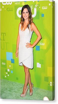Rachel Bilson Wearing A Chanel Couture Canvas Print by Everett