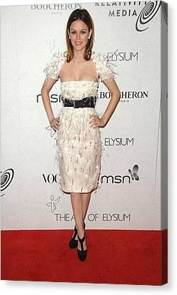 Rachel Bilson Wearing A Chanel Dress Canvas Print by Everett