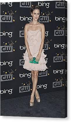 Rachel Bilson Wearing An Erin Canvas Print by Everett