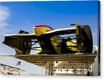 Racing Car Nose Canvas Print by Darcy Michaelchuk