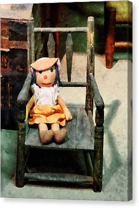 Rag Doll In Chair Canvas Print by Susan Savad