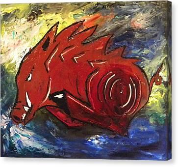 Ragin' Red Canvas Print by David McGhee