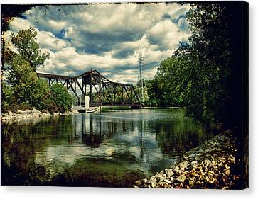 Rail Swing Bridge Canvas Print by Joel Witmeyer