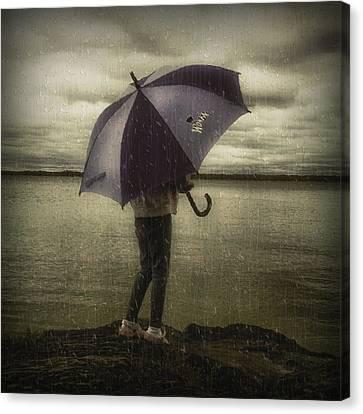 Rain Day 2 Canvas Print by Heather  Rivet