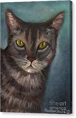 Rain The Cat Canvas Print by Kostas Koutsoukanidis