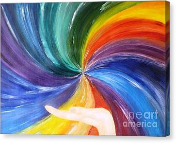 Rainbow For My Son Canvas Print by AmaS Art