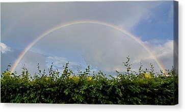 Rainbow In Warwick Canvas Print by Vicki Jauron