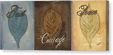 Rainbow Leaves 2 Canvas Print by Debbie DeWitt