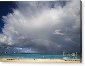 Rainbow Over Emerald Bay Canvas Print by Dennis Hedberg