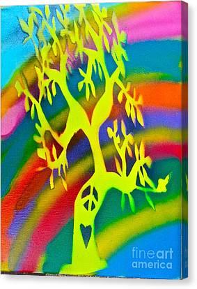 Rainbow Roots Canvas Print by Tony B Conscious