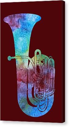 Rainbow Tuba Canvas Print by Jenny Armitage