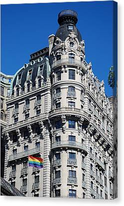 Rainbows And Architecture Canvas Print by Rob Hans