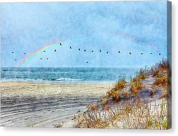 Rainbows And Wings II Canvas Print by Dan Carmichael