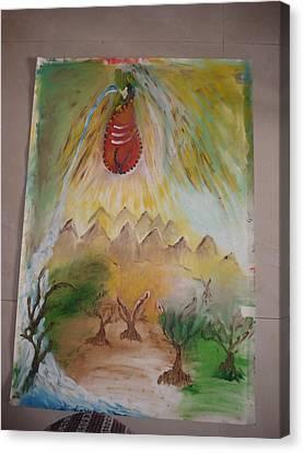 Rains Canvas Print by Indrani Moitra