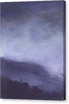 Rainstorm Over Stenbury Down Canvas Print by Alan Daysh